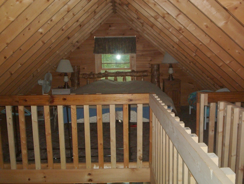 Tsle guide to get build a log shed for Log home with loft